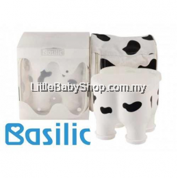 Basilic Baby Formula Milk Powder Dispenser Container Storage - 4 Compartment (Cow Pattern)