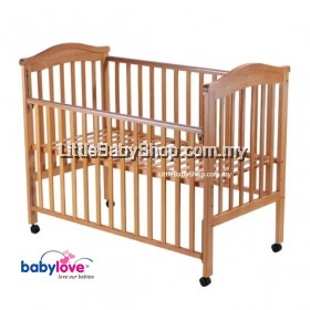 Babylove Baby Cot Solid Wood 24″ x 48″ BL840 Combo Package