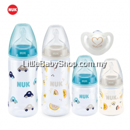 NUK Bottle Welcome Set (Turquoise Car &White Watermelon)
