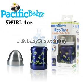 Pacific Baby Thermal Baby Bottle 120ml ( Swirls )