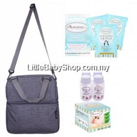 Autumnz Posh Cooler Bag Package (Oxford Grey) VALUE PACKAGE SET