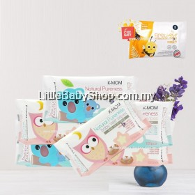 K-MOM Natural Pureness Basic Wet Wipes (100 sheets X 6 packs ) Free 10pcs (Exp Date: Mar2023)