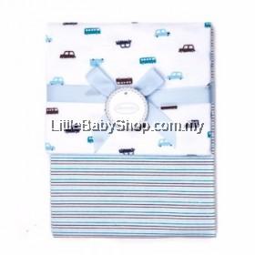 Autumnz-Flannel Receiving Blanket (2pcs/pack)*Car Stripes*
