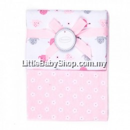 Autumnz-Flannel Receiving Blanket (2pcs/pack)*Pinky Ellie Elephants*