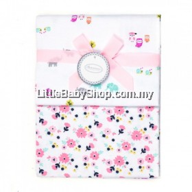 Autumnz-Flannel Receiving Blanket (2pcs/pack)*Owlie Flowers*