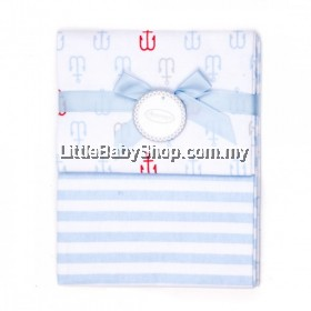 Autumnz-Flannel Receiving Blanket (2pcs/pack) *Anchor Stripes*