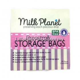 Milk Planet Breastmilk Double Zip Lock Storage Bag 12oz 25pcs