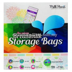Milk Planet Premium Double Zip-Lock Breastmilk Storage Bags 12oz/350ml