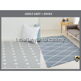 Dfang Double Film Premium PVC Playmat Adele Grey+Diana (2100x1400x14mm)