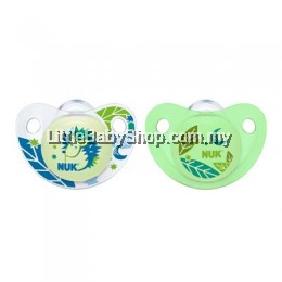 Nuk Glow In The Dark Orthodontic Soother 2pcs (Pacifier)