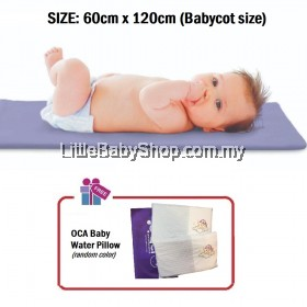 """[GENUINE] OCA Baby Water Bed Mattress Baby Cot Size 48""""x 24"""" x1.5"""" - with FREE GIFT"""