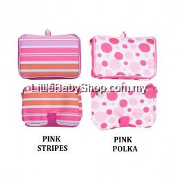 Autumnz : Fun Foldaway Cooler Bag (Pink Stripes/Pink Polka)
