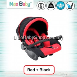 MAS BABY Newborn/Infant 3-in-1 Red (max 20kg)
