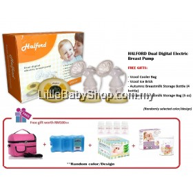 Halford Dual Digital Electric Breast Pump Package