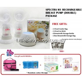 Spectra M1 Portable Electric Breast Pump (Double) Package