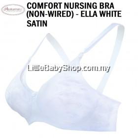 AUTUMNZ Comfort Nursing Bra (Non-Wired) Ella (White Satin)