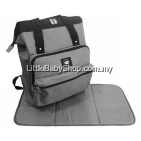 SIMPLE DIMPLE Hipster Keepster Diaper Backpack - Grey