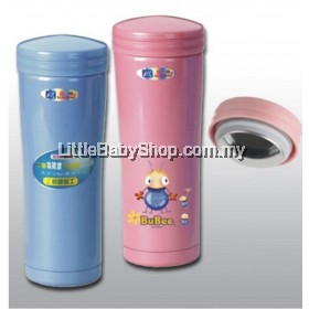 BuBee F-350ES 0.35L Vacuum Flask (Blue/Pink)