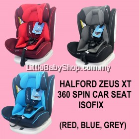 [PRE-ORDER] HALFORD Zeus XT 360 Spin Car Seat Isofix (Newborn-36kg) (Red/Blue/Grey)