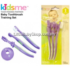 KIDSME Baby Toothbrush Training Set (Purple) (6m+)