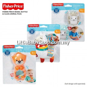 FISHER PRICE Shake, Rattle & Clack Animal Pack 3m+
