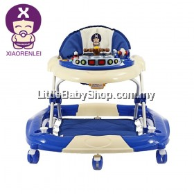 XIAORENLEI Melody Musical 360 Degree Rotating Baby Walker - Blue