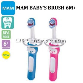 MAM Baby's Brush 6m+ - (Blue / Pink)