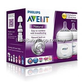 PHILIPS AVENT Natural Bottle 125ml with Unique Comfort Petal Teat 0m+ (SCF690/27) - Twin Pack