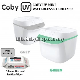 COBY UV Mini Waterless Sterilizer (Grey / Green)