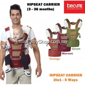 KANGAROO Be Cute Hipseat Carrier 2in1 5 Ways - Orange/Maroon