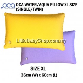 OCA Water / Aqua Pillow XL Adult Size (37cm x 60cm) (Single Pack/Twin Pack)