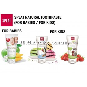 SPLAT Natural Toothpaste - For Babies (Exp: 02/22) / For Kids (Exp: 06/22)