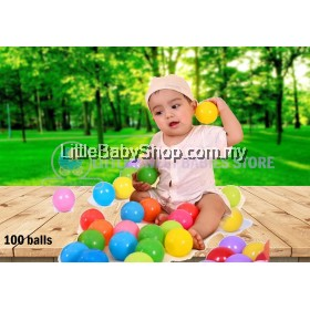 Kids Colorful Ocean/Swimming Pool Ball 100pcs (Pink&Blue / Mixed)