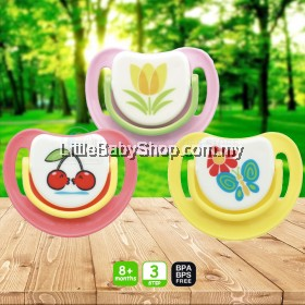 PIGEON Silicone Pacifier Step 3 (8m+) - Butterfly/Cherry/Tulip