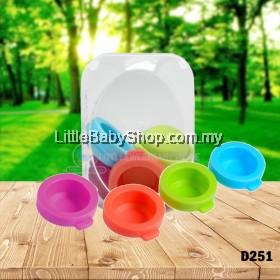 BASILIC Plug for Milk Powder Dispenser (D251) Assorted Colors - 6pcs (for D037 & D136)