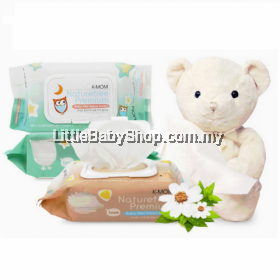 K-MOM : Naturefree Organic Premium Baby Wet Wipes 100pcs