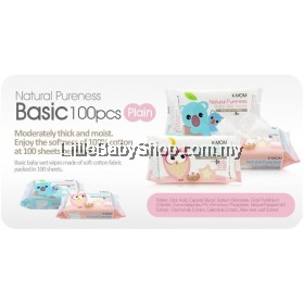 K-MOM Natural Pureness Basic Wet Wipes ( 100 sheets ) (Exp Date: 22/3/2023)