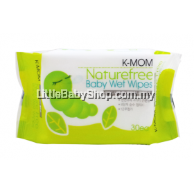 K-MOM: Organic Portable Naturefree Wet Wipes 30s