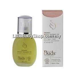 Buds Organic Breast Massage Oil 30ml (Exp: May 2023)