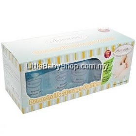 Autumnz : Breastmilk Storage Bottles (10 btls) - White Clear