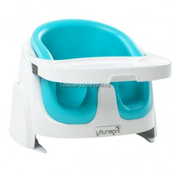 ingenuity baby base 2 in 1 booster seat teal l little baby shop my online store malaysia. Black Bedroom Furniture Sets. Home Design Ideas