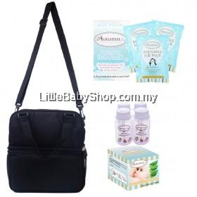 Autumnz Posh Cooler Bag Package (Black) VALUE PACKAGE SET
