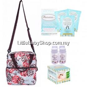 Autumnz Posh Cooler Bag Package (Henna Pink Brown) VALUE PACKAGE SET