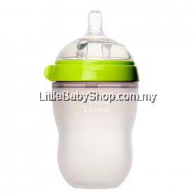 [GENUINE] Comotomo Natural Feel Baby Bottle 250ML Green