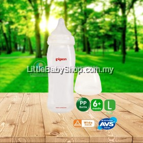 PIGEON SofTouch Peristaltic Plus Wide Neck PP Bottle 330ml (6m+ / L Y-Cut)