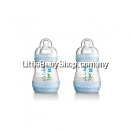 MAM ANTI-COLIC BABY BOTTLES 160ML X 2 TWIN PACK BLUE