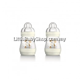 MAM ANTI-COLIC BABY BOTTLES 160ML X 2 TWIN PACK IVORY