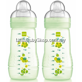 MAM Baby Feeding Bottle 270ml - Double Pack