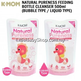 K-MOM Natural Pureness Feeding Bottle Cleanser Refill 500ml (Bubble Type  / Liquid Type)