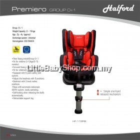 Halford Premiero Isofix Convertible Car Seat (0-18kg / 0-4years)
